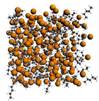 129-Xe in a Xe/pentane mixture: through-space spin-spin coupling