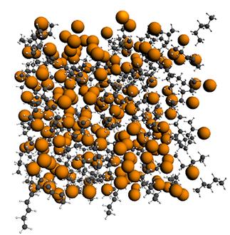 129-Xe in a Xe/pentane mixture: through-space spin-spin coupling