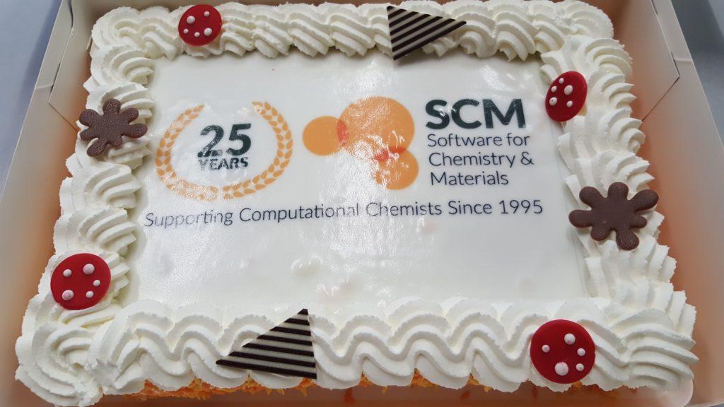 cake celebrating 25 years of SCM