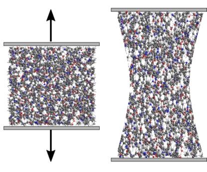 Stress-strain polymers reaxff